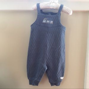 🆕 Soft Blue Quilted CuddleBear Overalls